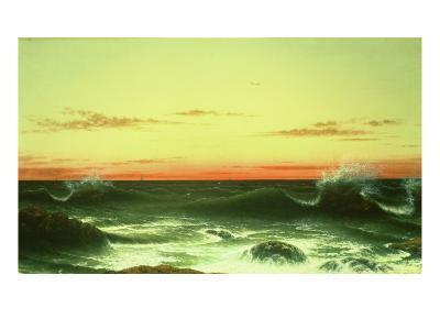 Seascape: Sunset, 1861-Martin Johnson Heade-Giclee Print