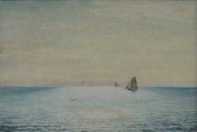Seascape with a Ketch, Off Adelaide, South Australia-James Ashton-Giclee Print