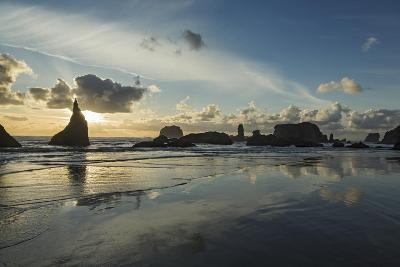Seascape with Pinnacles at Bandon Beach in Bandon, Oregon-Macduff Everton-Photographic Print