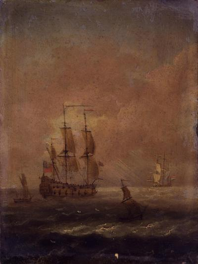 Seascape with Ships, C. 1690 - 1710--Art Print