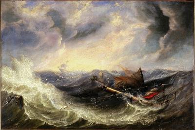 Seascape with Wreckage-John Wilson Carmichael-Giclee Print