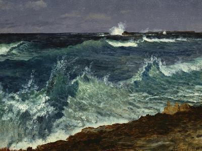 Seascape-Albert Bierstadt-Giclee Print
