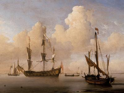 Seascape-Willem Van De Velde The Younger-Giclee Print