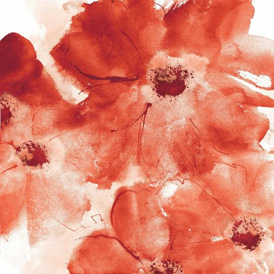 Seashell Cosmos I Red and Orange-Chris Paschke-Art Print