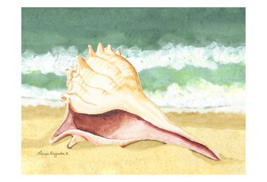 Seashell I-Laurie Korsgaden-Art Print