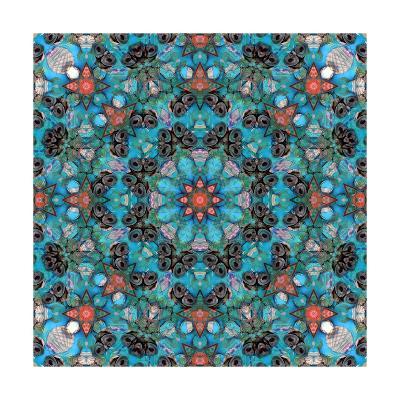 Seashell Mandala - Orange Seastar-Alaya Gadeh-Art Print