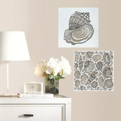 Seashell Peel and Stick Color Your Decal--Wall Decal