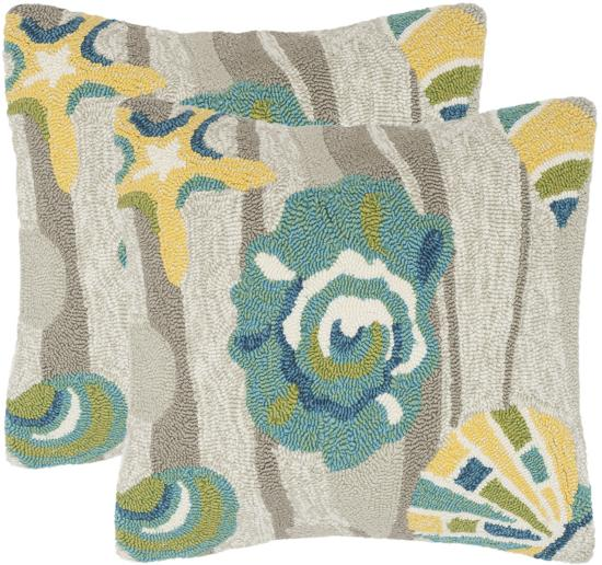 Seashell Pillow Pair - Tropics--Home Accessories