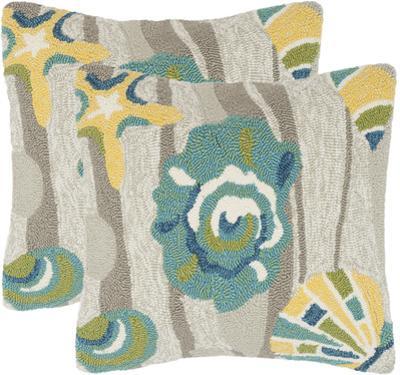 Seashell Pillow Pair - Tropics