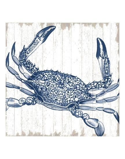 Seaside Crab-Sparx Studio-Art Print