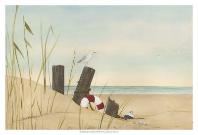Seaside Dunes I-Erica J^ Vess-Art Print