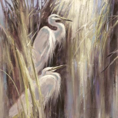 Seaside Egrets-Brent Heighton-Art Print