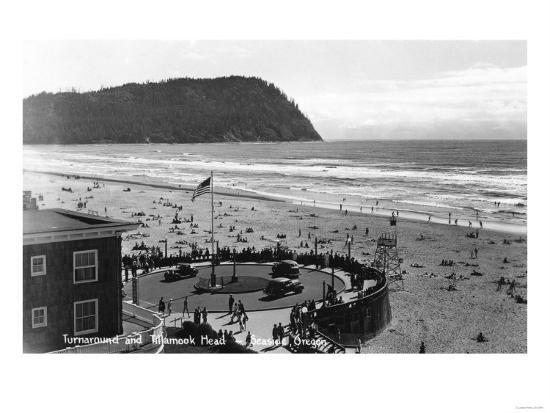 Seaside, Oregon Beach Scene from Air Photograph - Seaside, OR-Lantern Press-Art Print