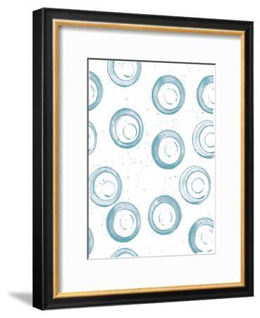 Seaside Pattern 3-Kimberly Allen-Framed Art Print
