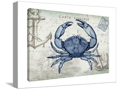 Seaside Postcard: Crab-Tre Sorelle Studios-Gallery Wrapped Canvas