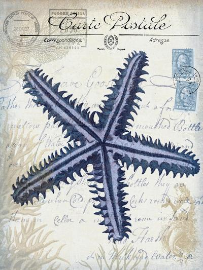 Seaside Postcard Cream a-Fab Funky-Art Print