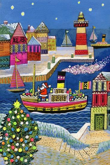Seaside Santa-Stanley Cooke-Giclee Print
