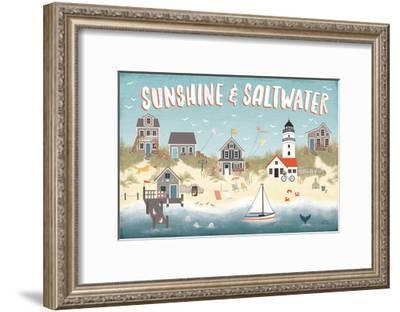 Seaside Village I-Laura Marshall-Framed Art Print