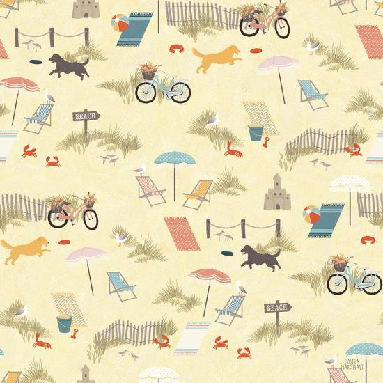 Seaside Village Pattern VI-Laura Marshall-Art Print