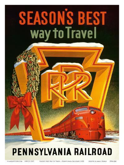 Season's Best Way to Travel - Pennsylvania Railroad--Art Print