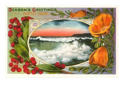 Season's Greetings from Santa Cruz, California--Art Print