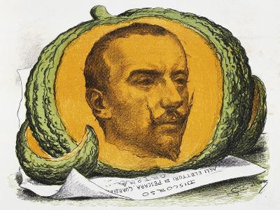 Seasonal Fruit, Cartoon About Gabriele D'Annunzio from the Pasquino, August 29, 1897, Italy--Giclee Print