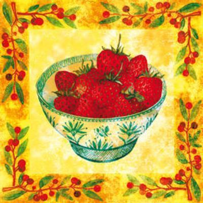 Seasons' Fruits Strawberries--Art Print