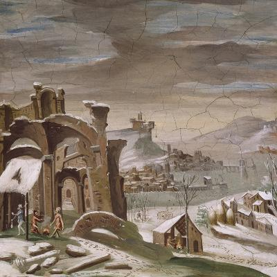 Seasons, Winter, 16th Century Decoration of Palazzo Odescalchi, Bassano Romano, Lazio, Italy--Giclee Print