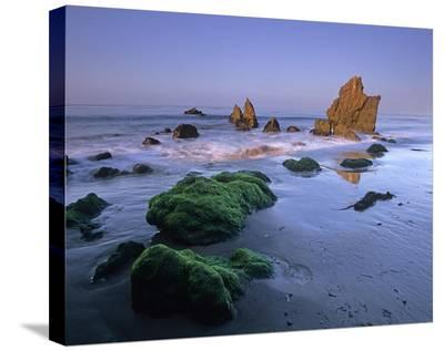 Seastacks on El Matador State Beach, Malibu, California-Tim Fitzharris-Stretched Canvas Print