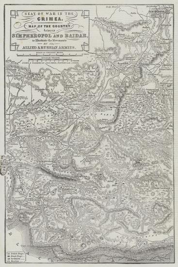 Seat of War in the Crimea-John Dower-Giclee Print
