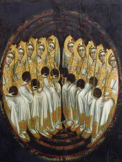 Seated Angels with Orbs in their Hands, c.1348-54-Ridolfo di Arpo Guariento-Giclee Print