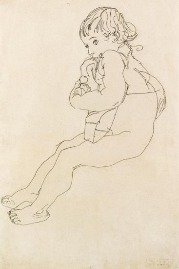 Seated Child, 1916-Egon Schiele-Giclee Print