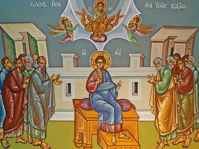 Seated Christ, Kykkos Monastery Mural, Cyprus--Giclee Print