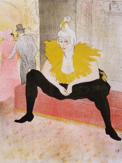 Seated Clowness, 1896-Henri de Toulouse-Lautrec-Giclee Print