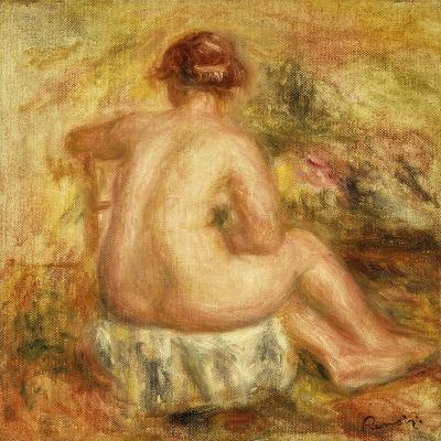 Seated Female Nude, View from behind-Pierre-Auguste Renoir-Giclee Print