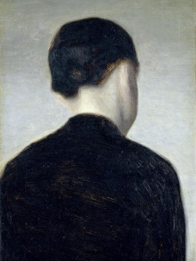Seated Figure, Seen from Behind (Anna Hammershoi) 1884-Vilhelm Hammershoi-Giclee Print