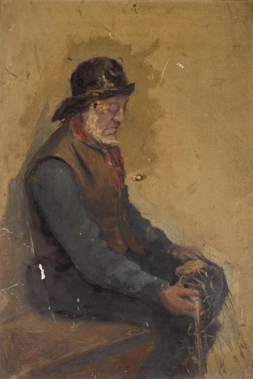 Seated Fisherman--Giclee Print