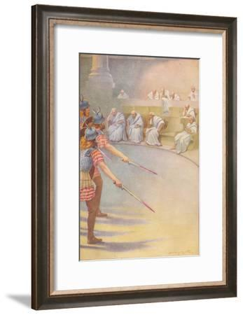 'Seated in chairs of ivory, sat a number of strange, venerable old men', c1912-Ernest Dudley Heath-Framed Giclee Print
