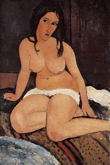 Seated Nude, 1917-Amedeo Modigliani-Giclee Print