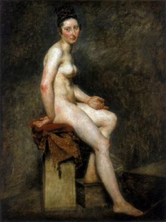 Seated Nude, Mademoiselle Rose, 19th Century-Eugene Delacroix-Giclee Print