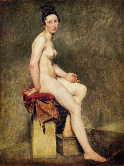 Seated Nude, Mademoiselle Rose-Eugene Delacroix-Giclee Print