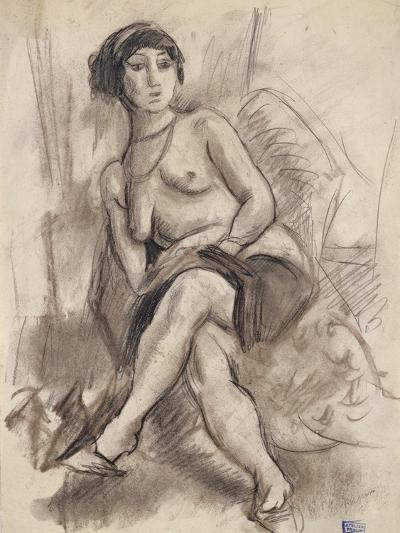 Seated Nude Model, C.1925-26-Jules Pascin-Giclee Print