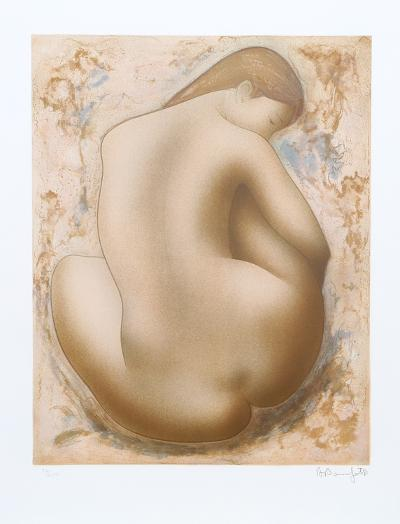 Seated Nude-Alain Bonnefoit-Collectable Print
