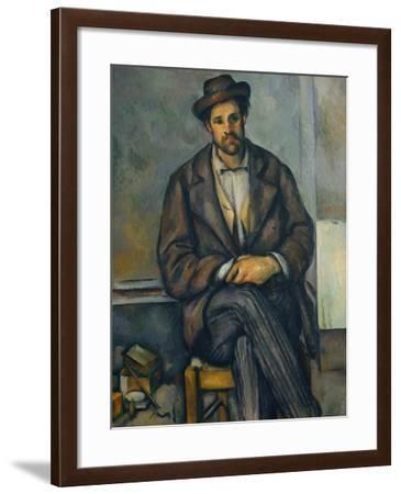 Seated Peasant, c.1892-96-Paul Cezanne-Framed Giclee Print