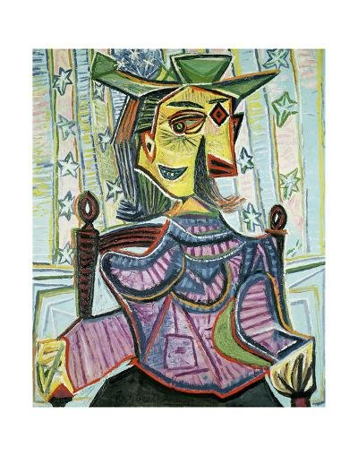 Seated Portrait of Dora Maar-Pablo Picasso-Art Print