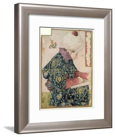 Seated Scribe, 1479-81-Gentile Bellini-Framed Giclee Print