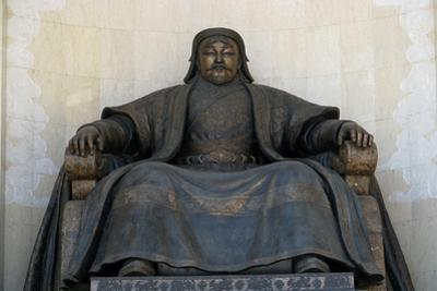 Seated Statue of Chingis Khan at the Parliament Building in Ulan Bator, 2005