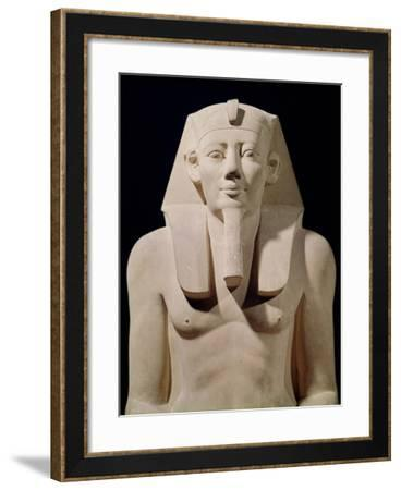Seated Statue of Sesostris I, Originally from the Mortuary Temple of Sesostris I at Al-Lisht--Framed Giclee Print
