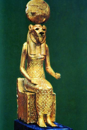 Seated Statuette of the Ancient Egyptian Goddess Sekhmet, 16th-13th Century Bc--Photographic Print