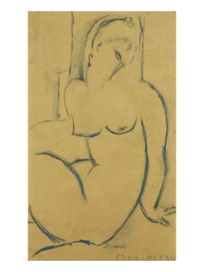 Seated Woman; Femme Assise-Amedeo Modigliani-Giclee Print